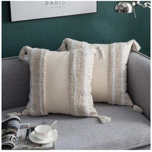 2 Pcs  Throw Pillow Covers 100% Cotton Woven